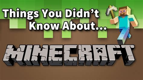 6 Things You May Not Know About Minecraft Vidoemo - things you didn t know about minecraft youtube