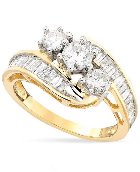 macy s us bypass ring in 14k gold 1 1 2 ct t w