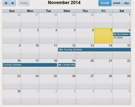 aplikasi untuk membuat jadwal kegiatan cara membuat kalender jadwal dengan php mysql ilmu