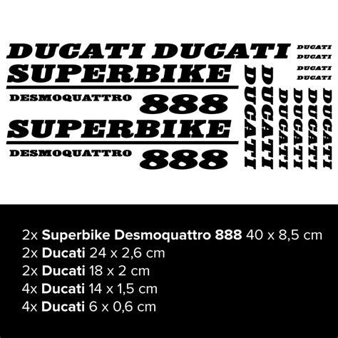 Ducati 888 Aufkleber by Ducati Superbike Desmoquattro 888 Motorrad Aufkleber