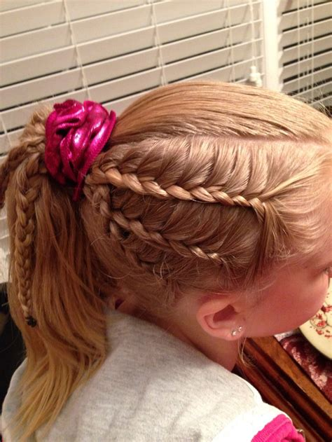 how to do gymnastics hairstyles gymnastics hairstyle lace braids hairstyles pinterest
