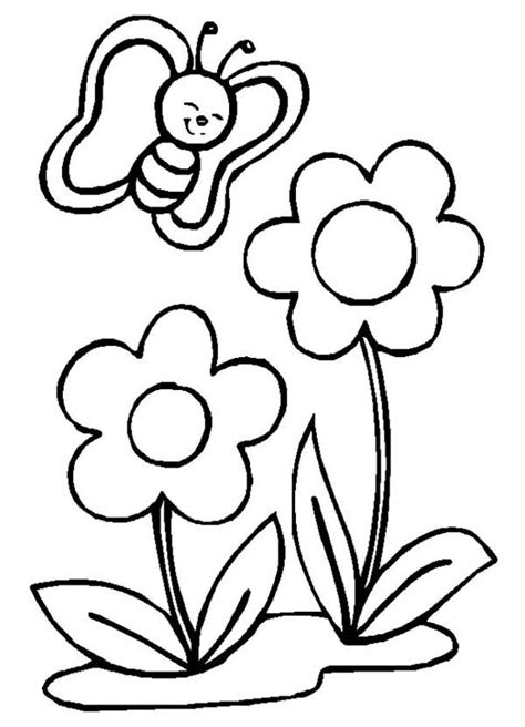 coloring pages of little flowers free drawings of spring flowers download free clip art