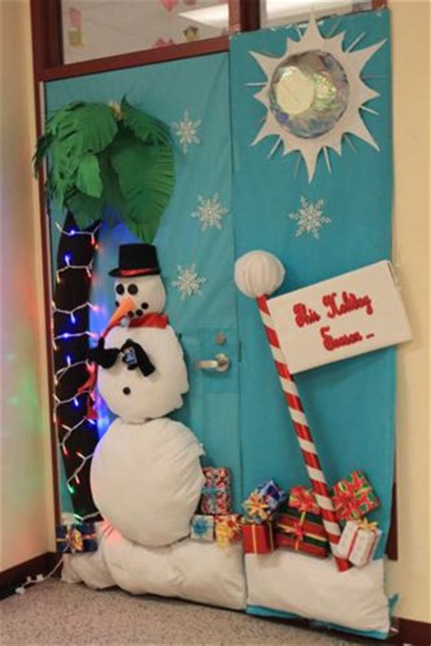 3d christmas door decoration barbeau takes place in door decorating the downey legend