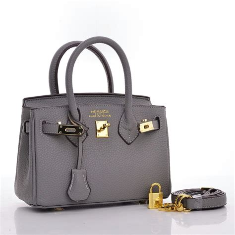 Mini Birkin tas hermes birkin mini togo leather abu abu semi premium