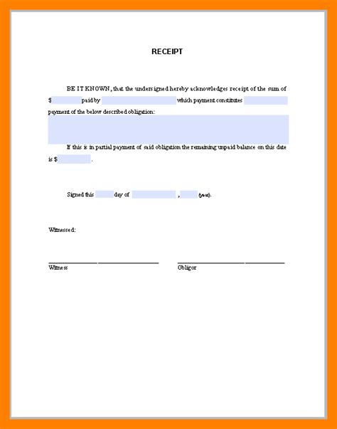 acknowledgement of receipt of money template acknowledgement format choice image cv