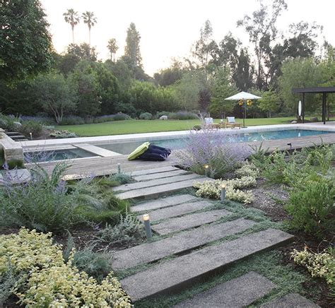 with drought tolerant landscapes and permeable