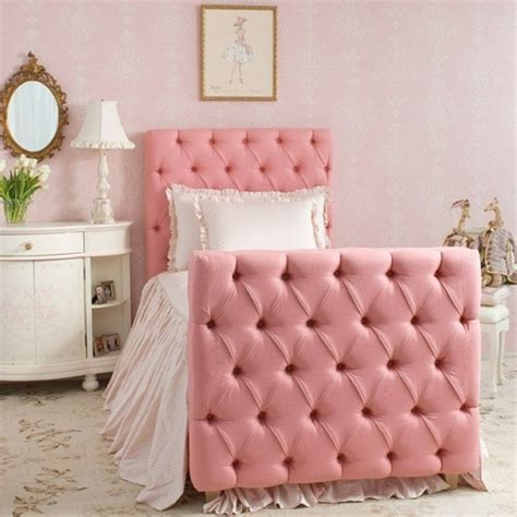 amelie tufted pink upholstered bed silver leaf images