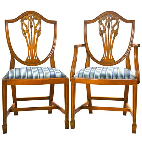 12 Dining Chairs Set Of 12 Sheraton Style Dining Chairs By Charles Barr At 1stdibs
