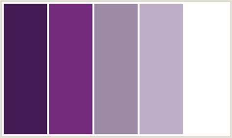 colorcombo171 with hex colors 421c52 732c7b 9c8aa5 bdaec6 ffffff