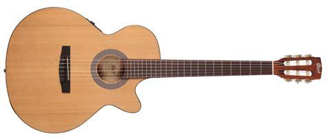 New Cort Gitar Klasik Elektrik Cec 1 Op elektro klasik gitar open pore ladin kapak arka