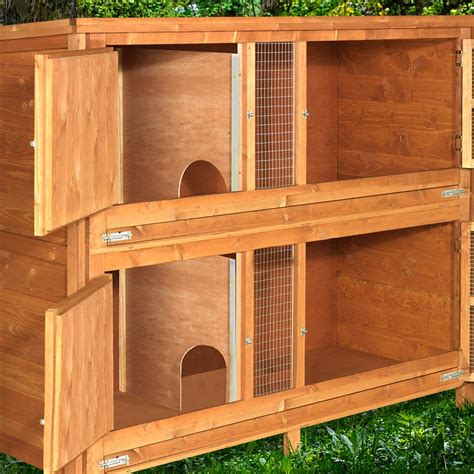 2 Tier Hutch home and roost 5ft chartwell 2 tier rabbit hutch for keeping your pets separate