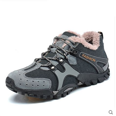 boots 2015 winter climbing shoes with fur sport hiking