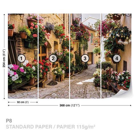 carta da parati con fiori carta da parati mediterraneo con fiori europosters it