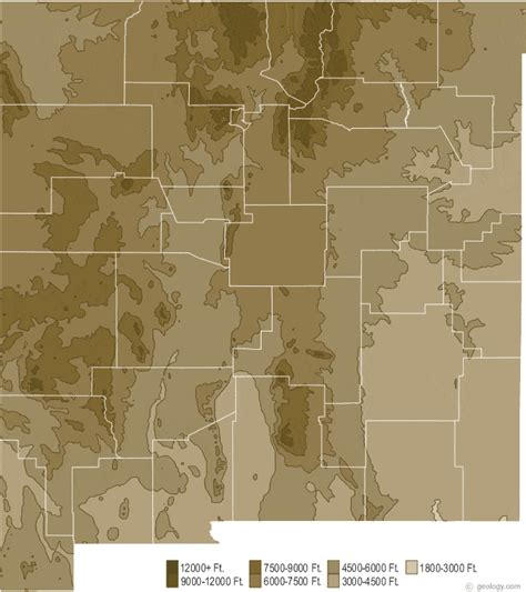 new mexico physical map new mexico physical map and new mexico topographic map