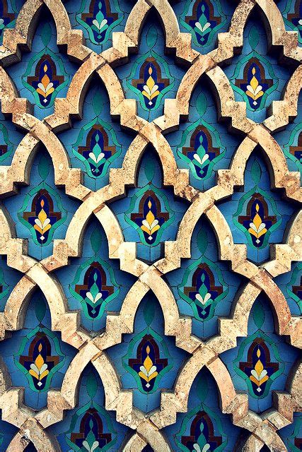 moroccan tile the pattern on the walls of hassan ii mosque casablanca