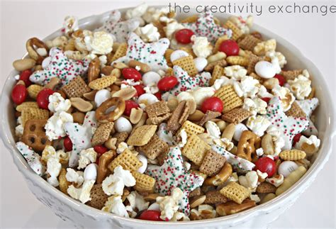 christmas snacks snack mix sweet and salty