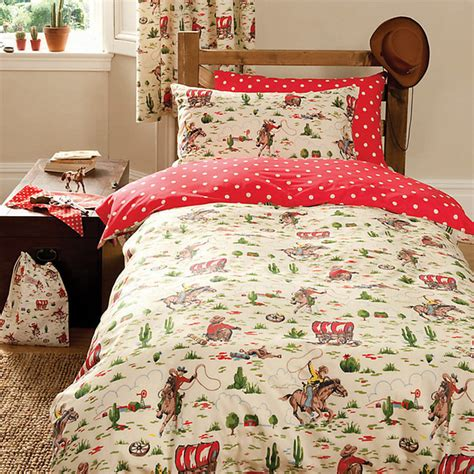 lewis childrens bed linen cath kidston cowboy duvet cover and pillowcase set