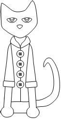 coloring page for pete the cat and his four groovy buttons pete the cat and his four groovy buttons cut and paste