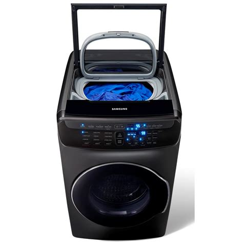 Samsung Washer Samsung 5 5 Total Cu Ft High Efficiency Flexwash Washer In Black Stainless Steel Wv55m9600av