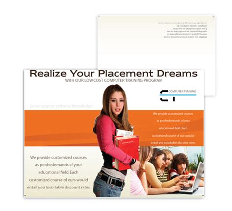 computer training and placement brochure designs