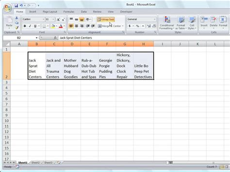 excel 2007 format cell text wrap excel text in cell format force any cell to your desired