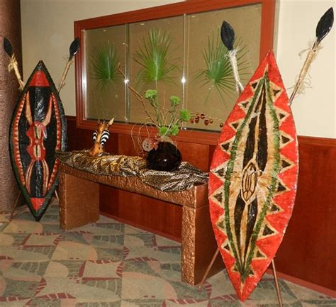 african themed decor african props for rent for a safari theme party or event