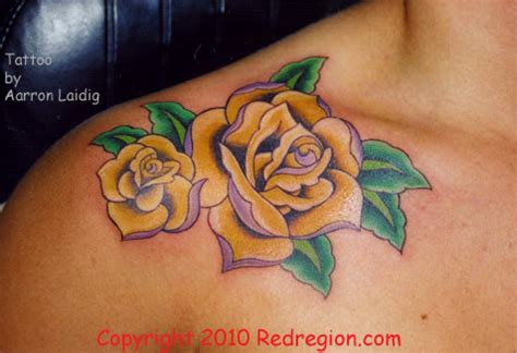 yellow rose tattoo 1887tattoos yellow tattoos