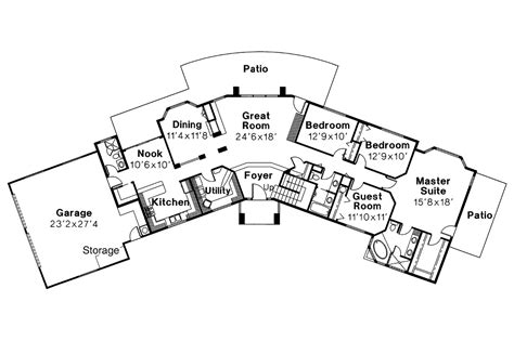 southwest home floor plans southwest house plans estefan 30 125 associated designs