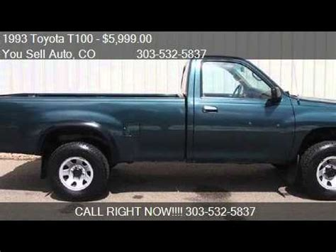 1993 toyota t100 t100 5 spd manual truck t 100 for sale in youtube
