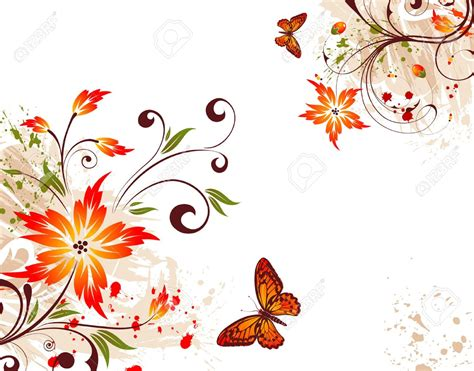 background design with flowers 5493135 grunge flower background with butterfly element