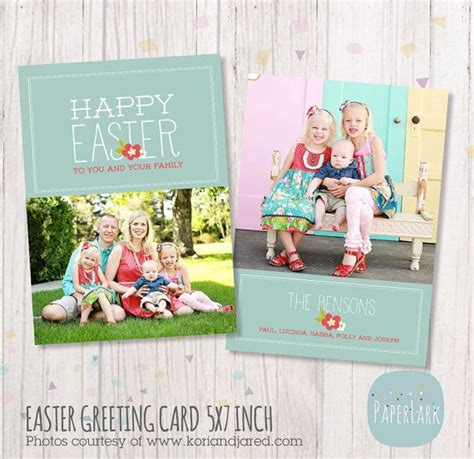 photoshop template easter easter photo card photoshop template ae006 instant