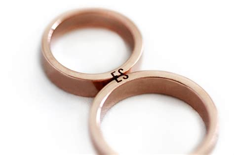 Matching Wedding Rings by Unique Ring Set Initials Ring Set Gold Wedding