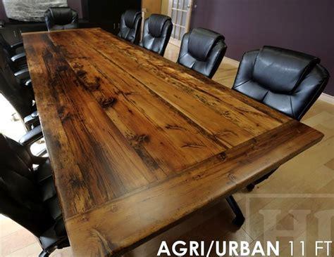 Reclaimed Wood Boardroom Table   Ontario Barn Wood