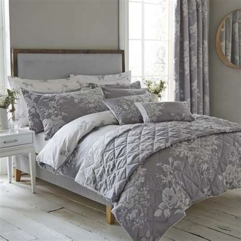 grey bedding and curtains laura grey jacquard bed linen collection dunelm