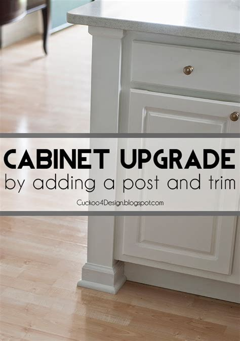 upgrade kitchen cabinets adding a kitchen counter post to upgrade builder standard
