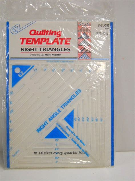 template plastic for quilting plastic quilting template right triangle template sewing