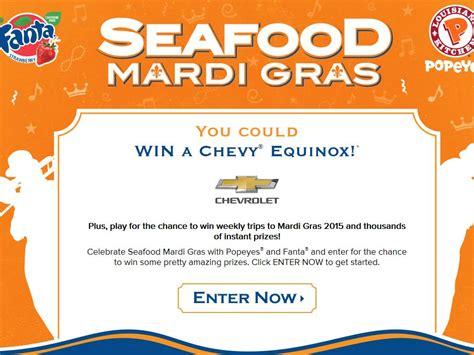 Mardi Gras Sweepstakes - fanta popeyes seafood mardi gras sweepstakes
