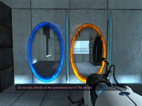 The Portal the portal exhibit blue and orange portals