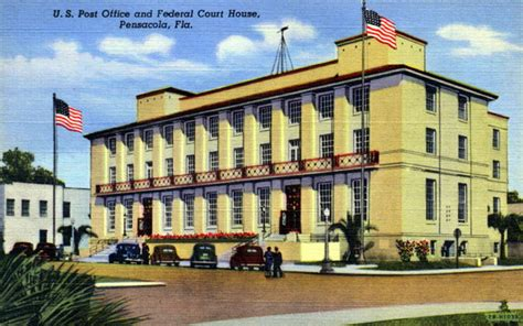 Pensacola Fl Court Records Florida Memory U S Post Office And Federal Courthouse