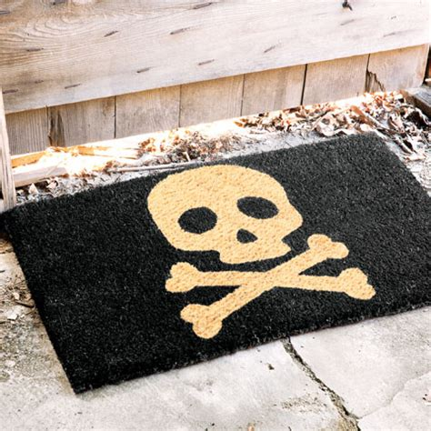 Skull And Crossbones Doormat skull bones coir door mat