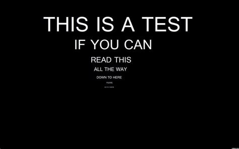 quot if you can read this is a test if you can read this all the way possible