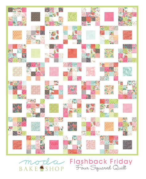 Moda Bake Shop Quilt Patterns moda bake shop free pattern garden quilt by jo and
