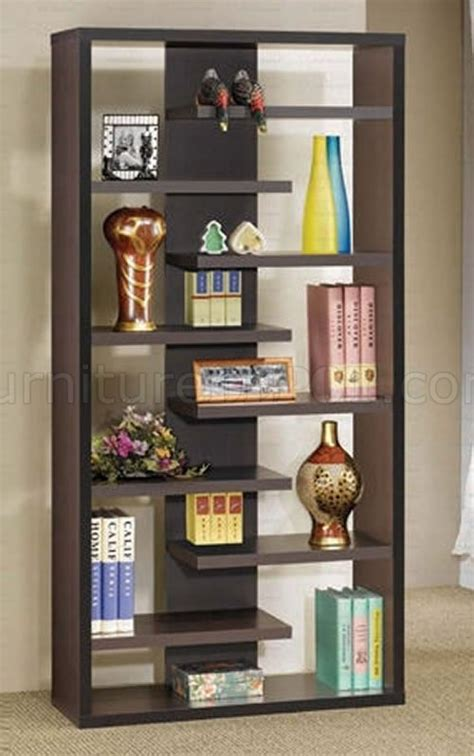 cappuccino color finish stylish modern book shelves