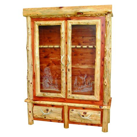 wood collection gun cabinet amish crafted furniture