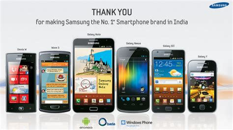 no 1 mobile market samsung says its the no 1 smartphone brand in india