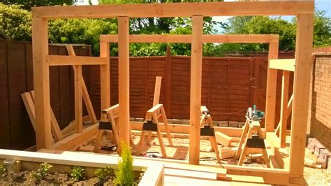 timber frame shed youtube