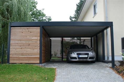 design carport holz garage mit carport great fr garage mit carport und abs