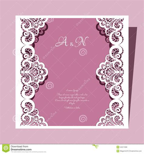 greeting card wedding template square lace wedding card stock vector image of frame