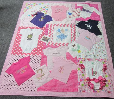 Bejeweledquilts by barb baby clothes memory quilt