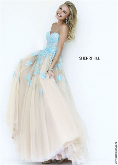 Light Blue Homecoming Dresses sherri hill 11200 lace gown in light blue and tulle rissyroos 2015